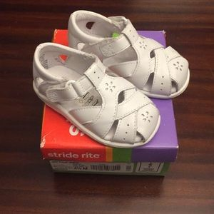 Stride Rite Tulip White Girls Sandals size 4.5
